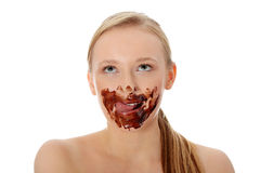 Chocolate girl Royalty Free Stock Photography