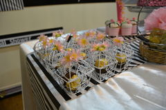Chocolate give aways. Bridal shower giveaways Royalty Free Stock Photography