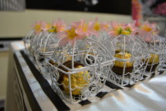 Chocolate give aways. Bridal shower giveaways Stock Photos