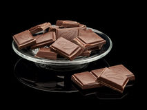 Chocolate in a glass saucer Royalty Free Stock Photo
