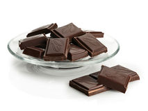 Chocolate in a glass saucer Stock Photo