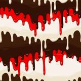 Chocolate and glaze seamless Royalty Free Stock Image
