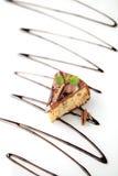 Chocolate glazed cake Royalty Free Stock Photography