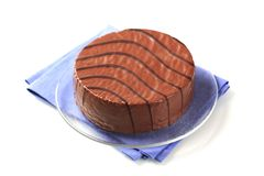 Chocolate glazed cake Stock Photography
