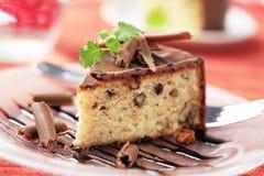 Chocolate glazed cake Royalty Free Stock Photo