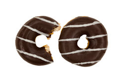 Chocolate Glazed Donut Royalty Free Stock Photos