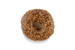 Chocolate glazed donut Royalty Free Stock Image