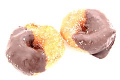 Chocolate Glazed Donuts Royalty Free Stock Images