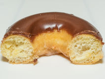 Chocolate glazed doughnut Royalty Free Stock Photos