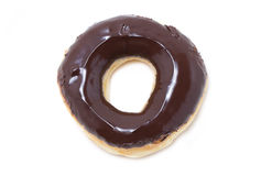 Chocolate Glazed Doughnut. Royalty Free Stock Image