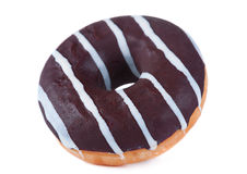 Chocolate glazed doughnut Royalty Free Stock Image