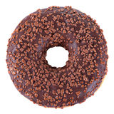 Chocolate glazed doughnut Royalty Free Stock Images