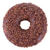 Chocolate glazed doughnut Royalty Free Stock Images