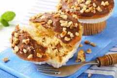 Chocolate glazed muffins Royalty Free Stock Photo