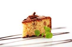 Chocolate glazed nut cake Royalty Free Stock Photo