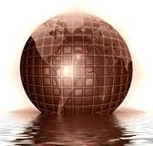 Chocolate globe royalty free stock image