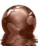Chocolate globe Royalty Free Stock Images