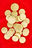 Chocolate Gold Coins Stock Photo