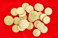 Chocolate Gold Coins Stock Image