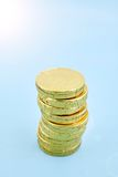 Chocolate Gold Coins Stock Photography