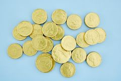 Chocolate Gold Coins Royalty Free Stock Photos
