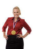 Chocolate gold medal winner Royalty Free Stock Photos
