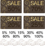 Chocolate golden sale cards Stock Photo