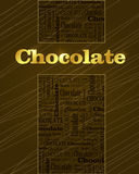 Chocolate template Stock Photography