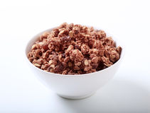 Chocolate granola Royalty Free Stock Photo