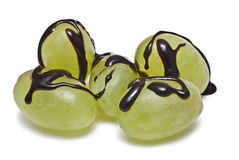 Chocolate on the grapes. Stock Photo