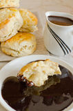 Chocolate gravy for biscuits Royalty Free Stock Photo