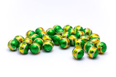 Chocolate green ball Stock Images