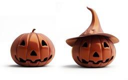 chocolate halloween pumpkin 皇族释放例证