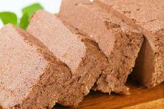 Chocolate halva Stock Image