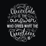 Chocolate hand lettering chalk quotes.