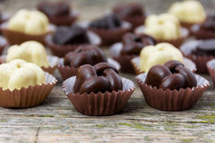 Chocolate handmade candies Stock Images