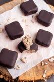 Chocolate handmade candies stock photo