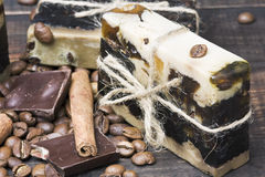 Chocolate handmade soap Royalty Free Stock Images