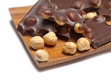 Chocolate with hazelnut Royalty Free Stock Photography