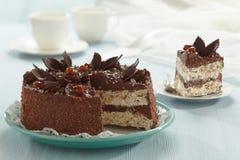 Chocolate and hazelnut cake Stock Photography