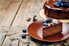 Free Chocolate Hazelnut Cake Cheesecake Royalty Free Stock Photo - 75061035