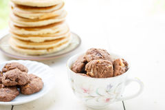 Chocolate and hazelnut cookies Stock Photography