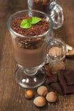 Chocolate hazelnut mousse Royalty Free Stock Photos