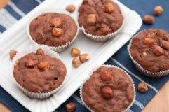 Chocolate Hazelnut Muffins Stock Photography