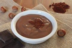 Chocolate hazelnut pudding Stock Photography