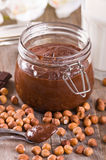 Chocolate hazelnut spread. Stock Photography