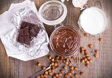 Chocolate hazelnut spread. Royalty Free Stock Images