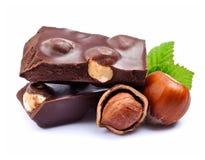 Chocolate with hazelnuts Stock Photo