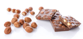 Chocolate with hazelnuts Royalty Free Stock Photography