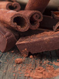 Chocolate with hazelnuts Royalty Free Stock Images